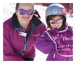 Nursery slopes for skiing children