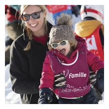Skiing holiday with childcare