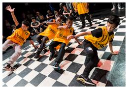 Boys dancing with RAD