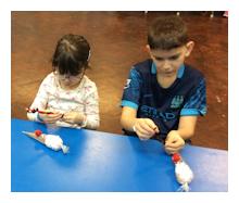 arts & crafts during school holidays