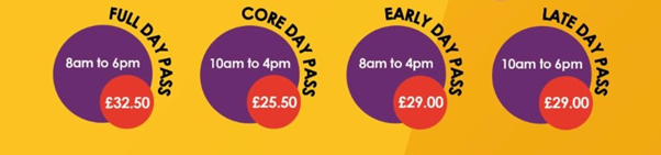 Cost of childcare for half-term and easter