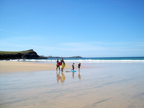 Child friendly beach resort in Cornwall