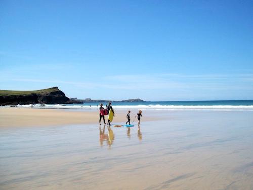 Child friendly beach resort in Cornwall