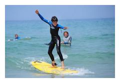 Surfing lessons for children