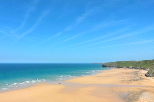 Sandy beaches in Cornwall