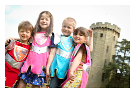 Days out with kids at Warwick Castle