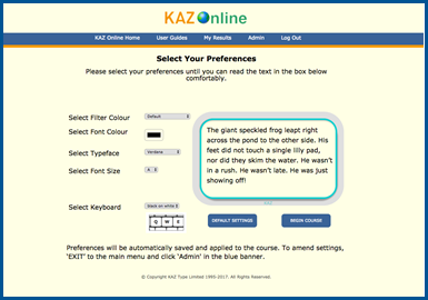 Kaz for children'c touch typing classes
