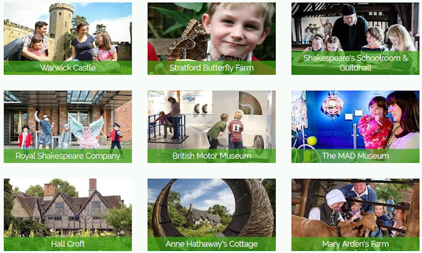 Family attractions in Warwickshire