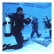 Scuba diving session for kids