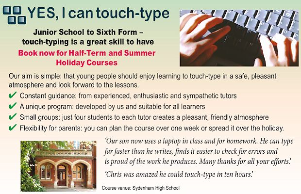 Online touch typing classes for kids