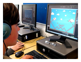 Children learning coding