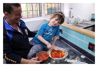 Cookery activities at day camp