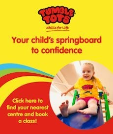 Tumble Tots activities for toddlers